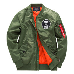 tigres voladores chaqueta Rebajas Alto Designair Force One Mens Ma1 Bomber Jacket Pilot Jacket Hombres Flying Tiger bordado Sport Windbreak Sweethearts Outfit Jacket Coat