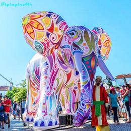 5m Şişme Renkli Çizimler ile Parade Fil Dev Renkli Şişirilmiş Tur Fil Boyama nereden arı kostümleri tedarikçiler