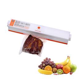 2019 máquinas de alimentos usados Máquina de envasado del sellador al vacío de alimentos domésticos Película eléctrica Sellador de alimentos Empaquetadora al vacío para el ahorro de alimentos Bolsas de almacenamiento al vacío KKA7100 máquinas de alimentos usados baratos