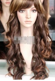 pelucas onduladas largas rubias oscuras Rebajas Peluca YU YING Pretty Long BrownBlonde ondulado rizado peluca nueva moda Cosplay envío gratis
