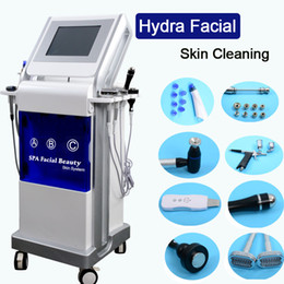 Scanner per la pelle online-9 in1 dermoabrasione idratante pulizia della pelle cristallo diamante microdermoabrasione macchina BIO lifting del viso scanner ad ultrasuoni ringiovanimento della pelle