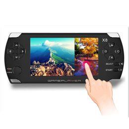 Mp4 jogo portátil on-line-X8 4.3 polegadas touch screen 8 gb portátil consola de jogos com e-book tv out handheld muitos clássicos jogos grátis mp3 mp4 mp5 player