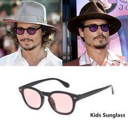 Kinderbrille rahmenobjektiv online-Johnny Depp Style Kids Sonnenbrillen Jungen und Mädchen Retro Korrekturbrillen Kinder Brillengestell Klare Linse okulary