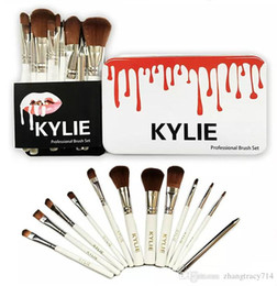 kylie foundation makeup Coupons - Brand Kylie Beauty Makeup Brush 12PCS Face and Eyes of Wet Powder Brush Set Kylie Brush Foundation Powder Blush Makeup Brushes Free Shipping