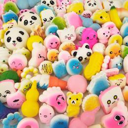 reductor de metal Rebajas Alta calidad Squishy PU Pan Donut Helado Kawaii Squeeze Cartoon Mini Squishies descompresión de juguete para regalos de la fiesta infantil