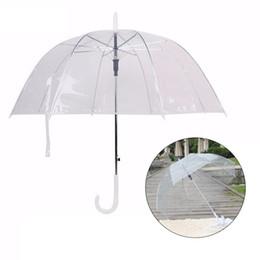 Transparenter stab online-Long Handle Umbrella Transparent Ultra Light Female Kinder Sonnenschirm Halbautomatische Straight Rod Sonnenschirm Female Umbrella