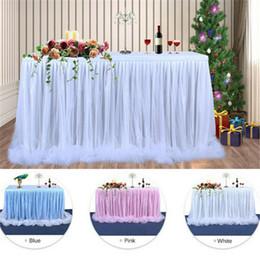 2019 botín de mesa de bodas de oro 2020 fiesta de cumpleaños multicolor partido de ducha Tabla falda de tela Vajilla boda del tutú de tul falda del bebé Tabla Tabla Zócalo