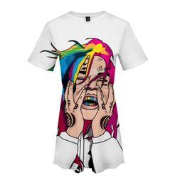 656e5ac1e23ef9 2019 kawaii sommerkleidung 6ix9ine 3D Print Frauen 2019 Heißer Verkauf Mode  Sommer Kurzarm Kleider Nettes Mädchen