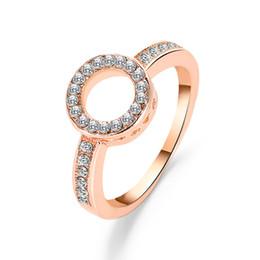 2019 brautverlobungsring Frau Kristall Ring Diomand Kreis geometrische Ringe S925 Steriling Silber Braut Hochzeit Ring Engagement Schmuck für Frauen rabatt brautverlobungsring