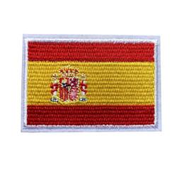 Bolsas de españa online-7 CM Bordado Bandera de España Parches Coser Hierro En Insignias Para Bolsa de Jeans Sombrero Camiseta Apliques DIY Artesanía decoración
