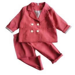 ropa de lujo de acción de gracias Rebajas Niñas Fall vestuario Equipos niños ropa de lujo traje Establece Corea ropa de Acción de Gracias Boutique Juego para chicas formal