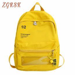 Lona mochila moda on-line-Lona Mulheres Mochila Carta Moda Softback Ombros Concisos Back Pack Zipper Softback Correntes Casuais de Viagem Back Pack