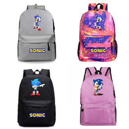 silver sonic Promo Codes - Beautiful Sonic the Hedgehog Backpack New Pattern Laptop Knapsack Beautiful Men Women Travel Bags Boys Girls School Rucksack