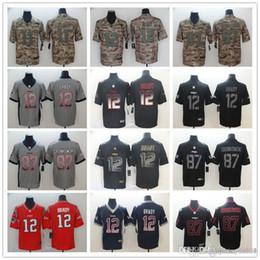 2019 jersey patriota negro Los nuevos hombres de Inglaterra Patriot 12 Tom Brady 87 Rob Gronkowski 11 Julian Edelman Negro Golden Edition 2019 Humo de forma limitada camisetas de fútbol