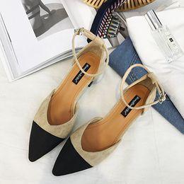 Argentina Sandalias de mujer 2019 Nuevos zapatos de tacón alto y zapatos coreanos con cordones de una pieza Hebilla Sandalias de verano Suministro