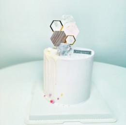 2020 decorazione di modo della doccia del bambino Moda stile geometrico torta card cap tendenza semplice vento baby shower decorazione festa hawaiana forniture fai da te decorazione decorazione di modo della doccia del bambino economici