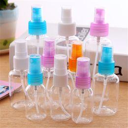 2019 tubos acrílicos transparentes Mini Perfume Transparente Sub-garrafa Fina Névoa Hidratante Garrafa Cosmética Portátil de Viagem Portátil de Plástico Pequeno Frasco de Spray