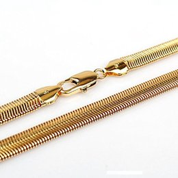 2020 cadenas de serpiente rellenas de oro para hombre Mens 18K Gold Filled hueso de la serpiente collar de cadena de 24