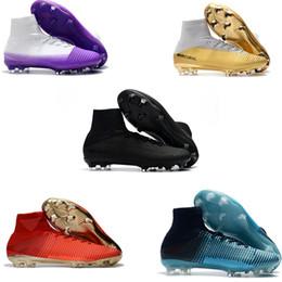 66493189081 Original New Mercurial Superfly V FG AG CR7 Ronaldo Soccer Cleats High Ankle  Neymar JR Soccer Shoes Magista Obra Hypervenom Football Boots