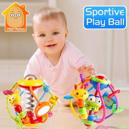 2019 bebê agarrando chocalhos Chocalho Atividade Chocalhos Educacionais Para Bebês Agarrando Bola Quebra-cabeça Playgro Brinquedos Do Bebê 0-12 Meses Aprendizagem Q190604 bebê agarrando chocalhos barato