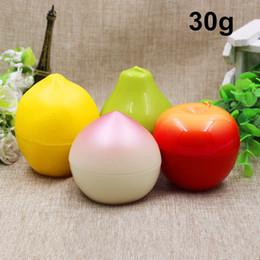 Canada 40 X Nouveauté Créative 30g Forme De Fruits Vide Portable Rechargeable En Plastique Cosmétique Maquillage Visage Crème Pot Conteneur Bouteille Pot Offre