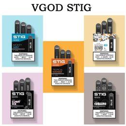 2019 interruptor da caixa de bateria Vgod Stig Pod Descartável Vape Pen Kit 270mAh Bateria Totalmente Carregada Com 1.2 ml pod Capacidade Descartável manga vagens