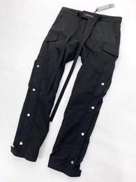 Wholesale 2019ss nuevo Zipped Ankle Track justin bieber Miedo de dios FOG pantalones de gran tamaño Hombres Mujeres Alta calidad riri cremallera cordón Joggers pantalones