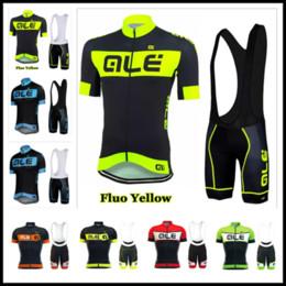 ale bike Promotion 2019 ALE Team Nouvel été Maillot De Cyclisme Ensemble Respirant Séchage Rapide Hommes Vélo Vélo Vélo Vêtements costume à manches courtes maillot ciclismo