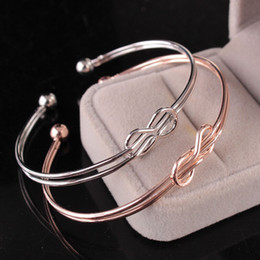 stili di nodo legato Sconti 1 pz braccialetto donne nuovo stile popolare nodo nodo personalità nodo legare doppio filo braccialetto moda semplice gioielli braccialetto
