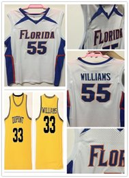 Trikots fotos online-NCAA Florida Gators College Nr. 55 Williams Basketball Jason Jersey DuPont High School Nr. 33 Williams genähte Hemden physikalisches Foto
