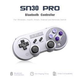 Controlador de juegos para android tv box online-8BitDo SN30 Pro Bluetooth inalámbrico Controlador de juegos Android Teléfono móvil Gamepad Para TV Box PC Nintendo Switch Game Joystick Consola de juegos