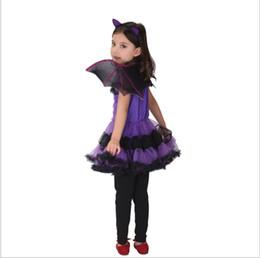Tv garota americana on-line-trajes transfronteiriça do Dia das Bruxas das crianças americanas e americanos trajes roxo morcego meninas Cosplay