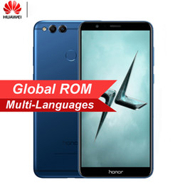 """2019 смартфон в индии Global ROM Huawei Honor 7X 5,93 """"Полноэкранный режим 2160 * 1080 пикселей OTA Обновление мобильного телефона Octa Core 2,4 ГГц Двойная камера заднего вида 16MP"""