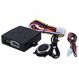 Entrada do carro sem chave on-line-New Car Motor Push Start com Botão de Controle Remoto Starter Starter Ignição / Entrada Sem Chave RFID Start Stop Imobilizador Sistema Frete Grátis