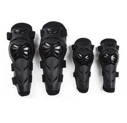 Rodilleras motocicleta codo rodilleras online-Pads 4pcs Kit Codo Rodilla Codo Equipo cuerpo adulto de la rodilla de la armadura de la Guardia Proteger Guardia para la motocicleta ciclismo patinaje