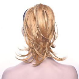 Canada Tressage Hairpiece Synthétique Blonde Noir Clip Dans Les Cheveux Bouclés Petite Queue De Poney Grey Ponytail Pour Femmes mode supplier black pony tail clip hair Offre