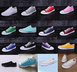 Повседневная обувь для мужчин цена онлайн-Новая заводская акционная цена! Холст обувь Женщины и мужчины Низкий стиль Классическая обувь Холст Повседневная обувь Холст