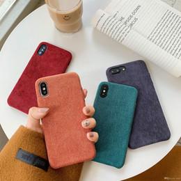 2019 новые стили мобильных телефонов Высокое качество осень новый стиль вельвет мягкий чехол для мобильного телефона для iPhone Xs макс. XR X 6 7 8 ТПУ чехол крышка телефона полная защита новый дешево новые стили мобильных телефонов
