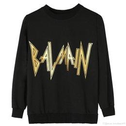 blusas de pescoço de algodão para mulheres Desconto Nova Moda Paris Designer Camisola de Algodão das Mulheres Camisola preta frete grátis