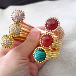 Haute qualité luxe classique mode CZ diamant manchette bracelet bracelet designer 18K plaqué or bijoux de fête pour les femmes ? partir de fabricateur