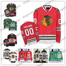 2019 números de camisetas de hockey negro Personalizado Chicago Blackhawks ANTIGUA MARCA Hombre Mujer Invierno Clásico Verde Blanco Rojo Negro Cualquier número de nombre Cosido Hockey Jerseys S-4XL números de camisetas de hockey negro baratos