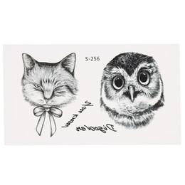 Autocollants de mode animaux imperméables Wolf Spider Owl Cat Horse Fawn Body Art Modèle de tatouage W6206-4 ? partir de fabricateur