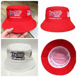 boonie sombreros verde Rebajas Trump 2020 del sombrero del cubo Sombreros de verano para los hombres Pescador de la mujer sombrero de Hip Hop presidente estadounidense Cap Elección bordado Senderismo casquillos ZZA1675