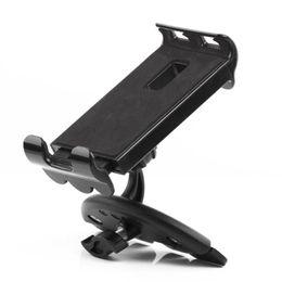 2019 универсальная подвижная подставка Universal Car CD Slot Cellphone Tablet Bracket Holder Mount Stand Cradle For 3.5-11 inch iPad iPhone Tablet Mobile Phone GPS дешево универсальная подвижная подставка