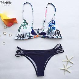 Осенние цветочные Yours Bikini Set Женщины Sexy Холтер Две пьесы купальник 2019 Новая девушка пляж Купальные костюмы Купальники cheap new girls sexy beach от Поставщики новые девушки сексуальный пляж