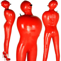 Costume de paquets en Ligne-Latex Catsuit Catsuit Badysuit Suit Bundle De Liaison Gonflable Suit Mascarade