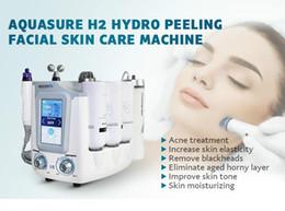 2019 máquina microcorrente portátil 3 en 1 Hydro Microdermabrasión Hydra Facial Limpieza profunda BIO Microcorriente Estiramiento facial Tratamiento de estiramiento de la piel Máquina de belleza spa rebajas máquina microcorrente portátil