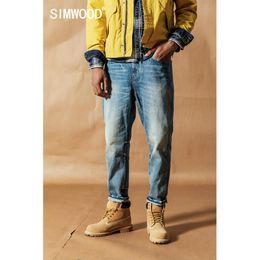 SIMWOOD vintage wash carrot jeans men 2019 autumn new loose ankle-length denim trousers plus size quality tapered jean 19041 cheap loose tapered jeans men от Поставщики джинсы с короткими косами
