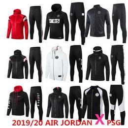 jerseys de epl Rebajas 2019/20 AIR Jordan X PSG chaqueta con capucha Champions League Survetement 2019 2020 AIR Jordan PSG MBAPPE, chaquetas de fútbol soccer HOODI