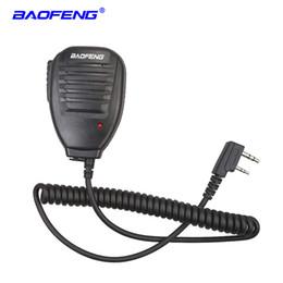Baofeng Radyo Hoparlör Mic Mikrofon Taşınabilir Iki Yönlü Telsiz Walkie Talkie için PTT UV-5R UV-5RE UV-5RA UV-6R 888 S UV-82 UV-S9 cheap two way radio speaker mic nereden iki yönlü telsiz hoparlör mikrofonu tedarikçiler